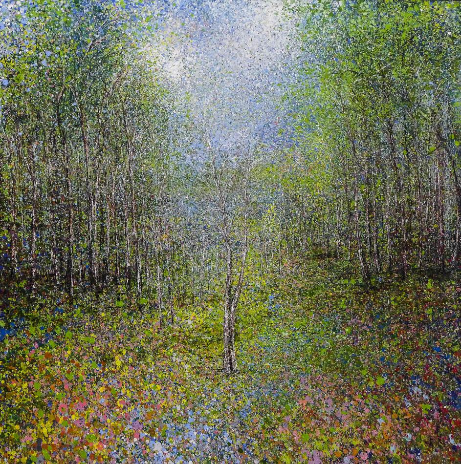David Komander, 140x140 cm, oil/canvas 2015