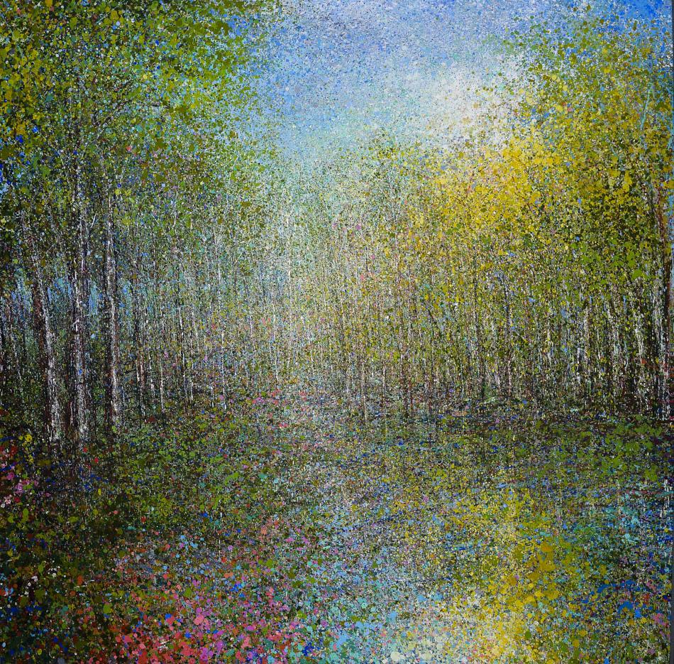 "David Komander,""GLADE"", 200x200 cm, oil/canvas 2015"