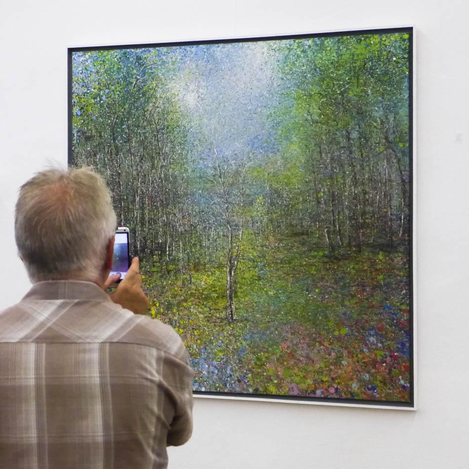 David Komander, Abtei Brauweiler Kunsttage 2015, painting 140x140cm, 2015
