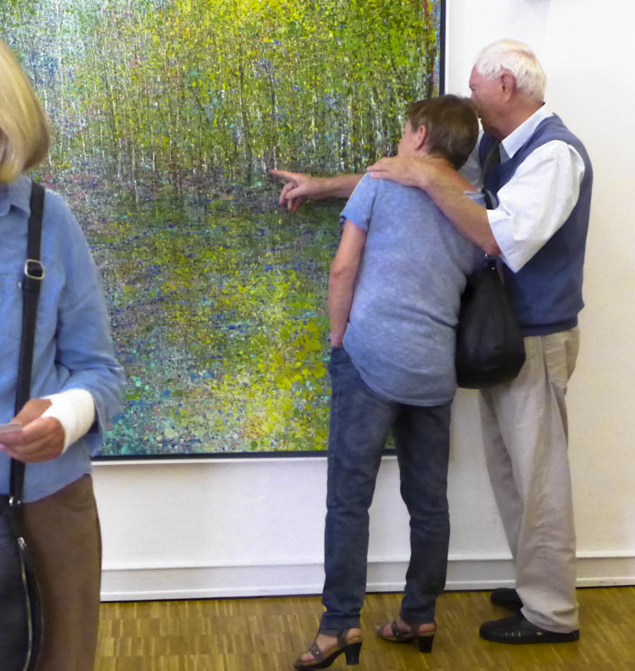 David Komander, Abtei Brauweiler Kunsttage 2015, painting 200x200cm, 2015