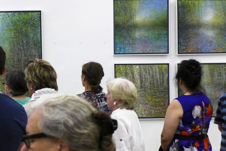 David Komander, Abtei Brauweiler Kunsttage 2015, painting 70x70cm, 2015