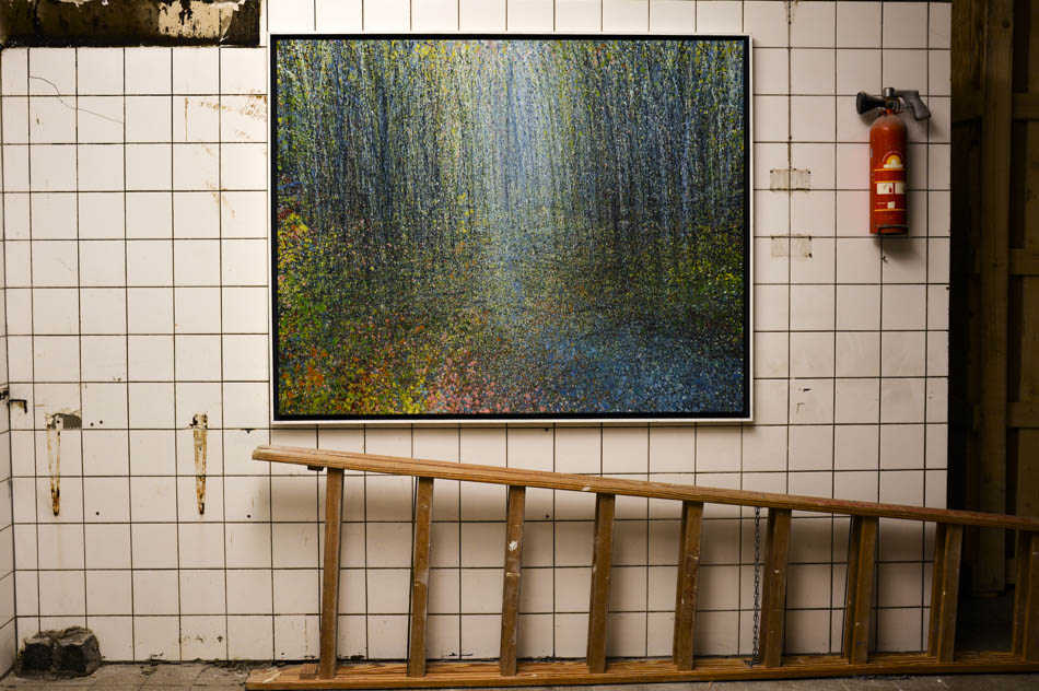 David Komander, Cologne 2016 Kaiser-Wilhelm-Ring 2016, Passagen IMM, painting oil/canvas 140x160cm, 2014