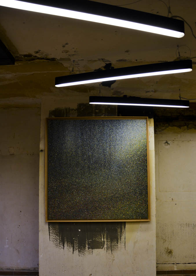 David Komander, Cologne 2016 Kaiser-Wilhelm-Ring, Passagen IMM, painting 140x140cm, acrylic 2012