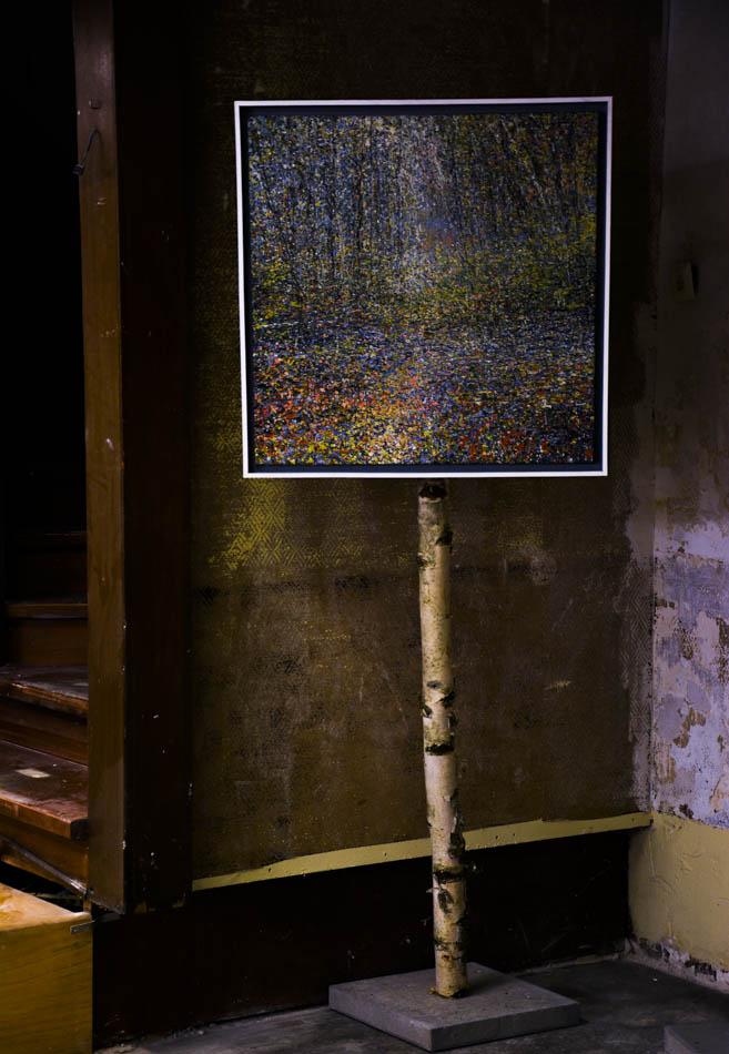David Komander, Cologne 2016 Kaiser-Wilhelm-Ring, Passagen IMM, painting 70x70cm, egg tempera 2015
