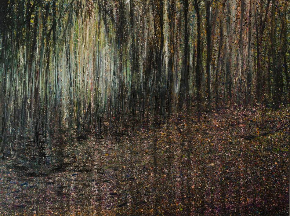 David Komander, Waldraum 2011, 70x70 cm