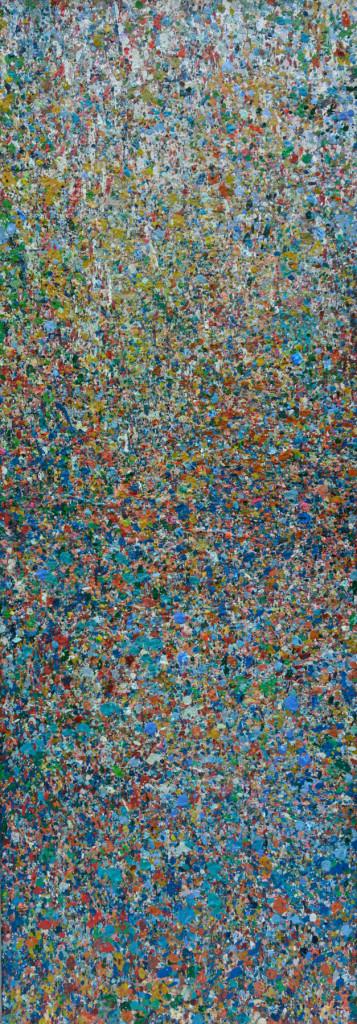 """PEAK"" Serie, #42.6, oil on canvas, 25x70cm, 2019"