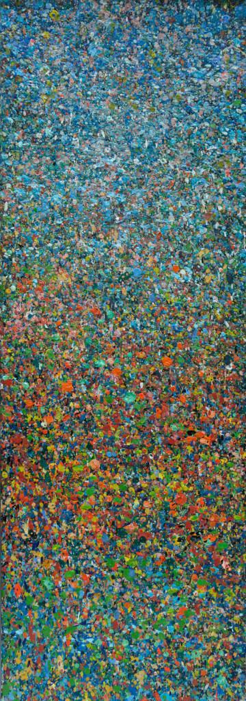 """PEAK"" Serie, #42.5, oil on canvas, 25x70cm, 2019"