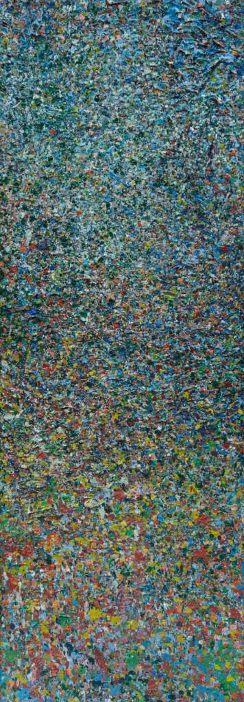"""PEAK"" Serie, #42.4, oil on canvas, 25x70cm, 2019"