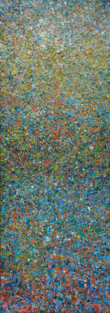 """PEAK"" Serie, #42.2, oil on canvas, 25x70cm, 2019"