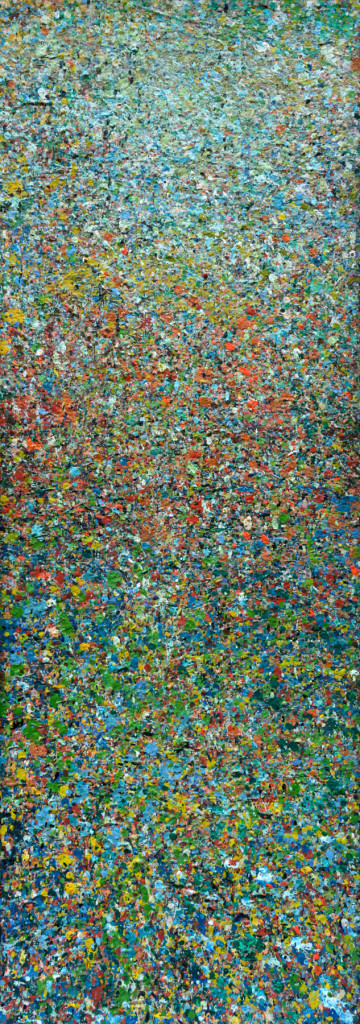 """PEAK"" Serie, #42.3, oil on canvas, 25x70cm, 2019"