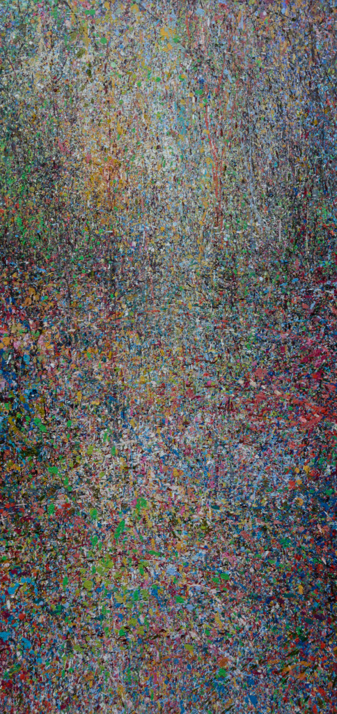 """PEAK"" Serie, #BIRTH, oil on canvas, 25x70cm, 2019"
